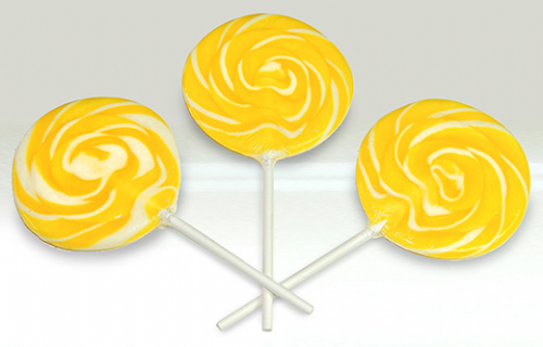 LOL04 SWIRL ROCK LOLLIPOPS LEMONADE FLAVOUR.
